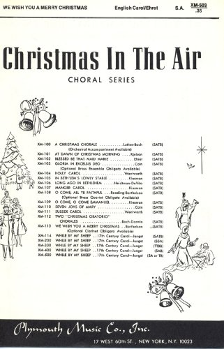 We Wish You a Merry Christmas (Christmas in the Air Choral Series, S.A. with Piano Accompaniment)