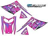 Senge Graphics 2003-2009 SKI DOO REV Chassis Savage Pink Sled Wrap Kit