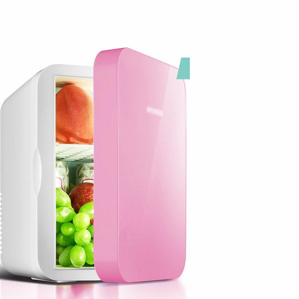 HOMEE @ Car Refrigerator 6L Small Household Mini-Mini-House Mini Car Home Dual-Use Heating Device,Pink,6L