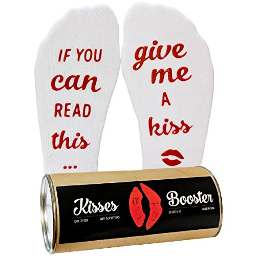 """If You Can Read This, Give Me a Kiss"" Socks"