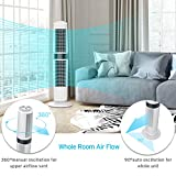 LEVOIT Tower Fan Oscillating with Remote, Whole Room Standing Floor Eco Mode Saves Energy and Quiet Operation, 37 Inch, White, LV373