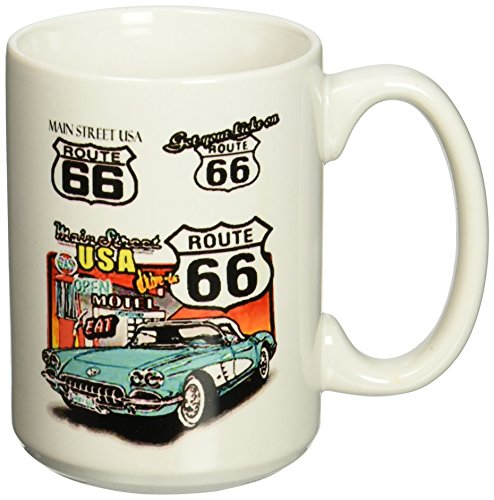 3dRose Route 66 Mug, 15-Ounce - Switch Route 66 Light