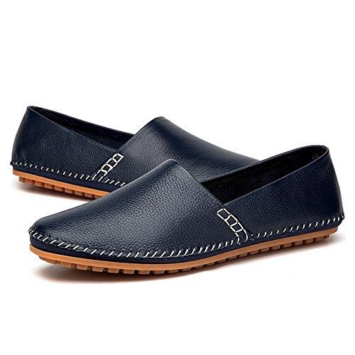 colore 44 EU Color Bianca Mocassini da Meimei casual barca in Blu guida moda pelle nobile confortevole PU mocassini Mens puro Dimensione minimalismo shoes wTq1Rz