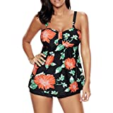 Zando Clearance Womens Push up Tankini Top Set Maternity Swimsuit Swimwear PaddedTwo Piece Bathing Suit Skirtini
