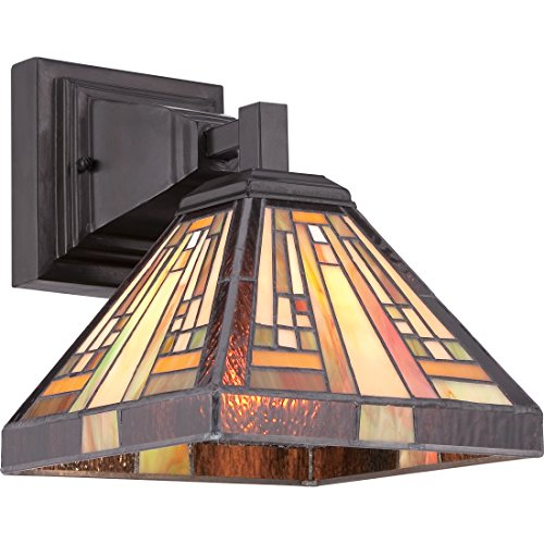 Frank Lloyd Wright Wall Sconce. Quoizel TFST8701VB One Light Wall Sconce