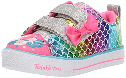 Skechers Kids Girls' Shuffle LITE-Mermaid Parade Sneaker, Multi, 6 Medium US Toddler