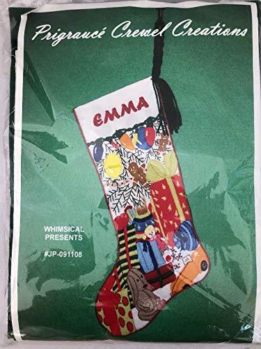 Whimsical Presents Crewel Christmas Stocking Embroidery Kit JP-091108