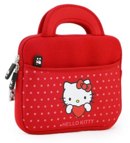Phenix-Color Hello Kitty Little Bear Bag Sleeve Case for Ipad 2 3 4 / iPad Air / iPad Air2 Google Nexus Hp Touchpad Motorola Xoom, Smasung Galaxy Tab 10.1V, and any 10.1inch or less Tablet (Polka Dot Red) (Tablet Kitty Samsung Hello)