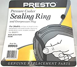 Presto 09903 Pressure Cooker Sealing Ringoverpressure Plug Pack (3 & 4 Quart)