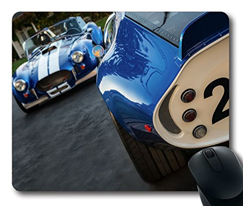 Custom Amazing Mouse Pad with Shelby Cobra Daytona Coupe 1965 1967 Classic Racing Cars Non-Slip Neoprene Rubber Standard Size 9 Inch(220mm) X 7 Inch(180mm) X 1/8 Inch(3mm) Desktop Mousepad Laptop Mousepads Comfortable Computer Mouse Mat