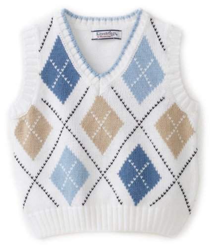 Kitestrings Baby Boys' Argyle Vest Sweater