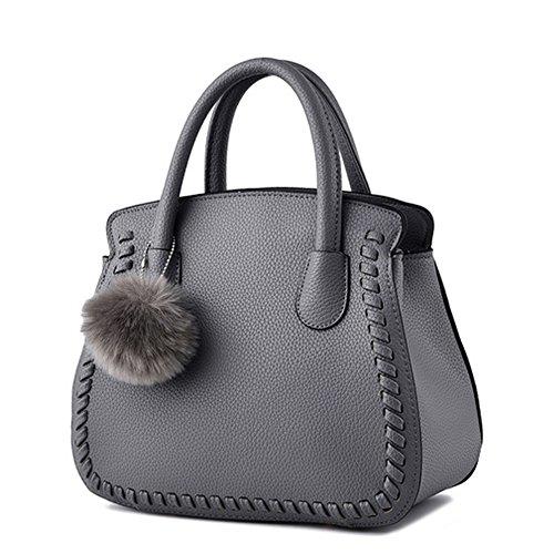Unknown - Bolso mochila  para mujer granate gris