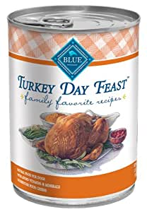 Blue Buffalo Family Favorite Canned Dog Food, Turkey Day Feast  (Pack of 12 12.5-Ounce Cans)