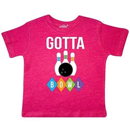 inktastic - Bowling Gotta Bowl Gift Toddler T-Shirt 4T Retro Heather Pink 33449