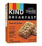 KIND Breakfast Bars, Peanut Butter, Gluten Free, Non GMO, 1.8oz, 32 Count