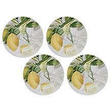 Martha Debayle Home CITRUS Platos Citrus, 19 cm, 4 Piezas