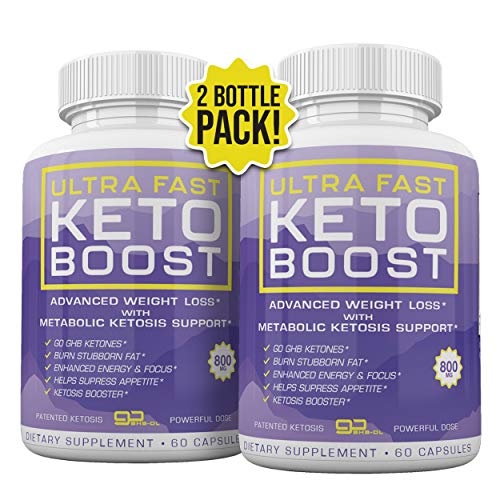 Ultra Fast Keto Boost - Advanced Weight Loss with Metabolic Ketosis Support - 800MG - 120 Capsules - 60 Day Supply