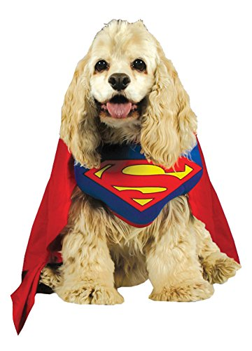 UHC Superman Dc Comics Superhero Fancy Dress Puppy Halloween Pet Dog Costume, L