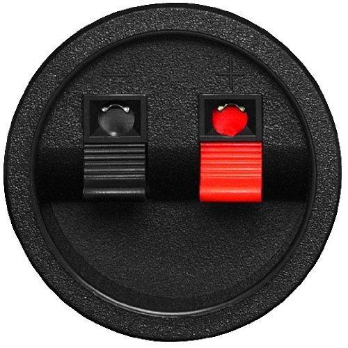 Goldwood Round Pressfit Speaker Wire Terminal Cup Spring Type