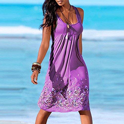 Plage up De Vacances Femme Robe ete Longue Bohme Ample Violet Soleil Cover Chemisier DOGZI Robe aqPxwZZY