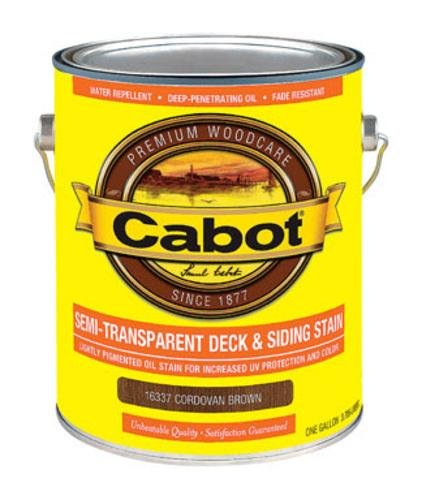 CABOT SAMUEL 16337-07 INC GAL BRN Tran Deck Stain Cabot Semi Transparent Oil Stain