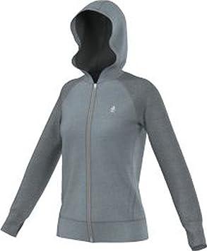 Xs Sweat Fz Hdy Flc Ult Grisplata Femme Adidas Shirt Bw06RPPq