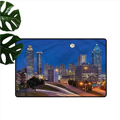 DUCKIL Non-Slip Door mat Landscape Cosmopolitan Cityscape All Season General W31 xL47 ()