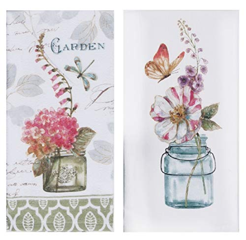 (Kay Dee Designs Nature's Garden Floral Kitchen Towel Bundle, Set of)