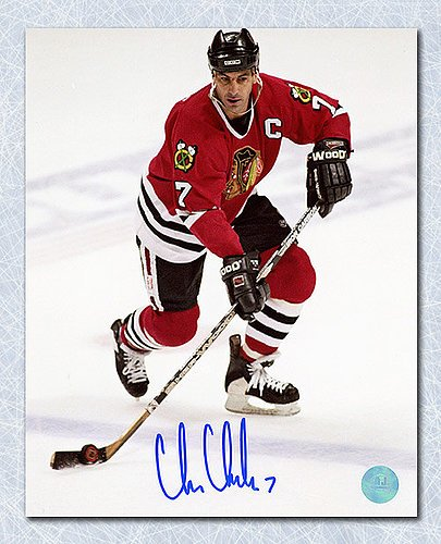 703b7a9aa2c Chris Chelios Chicago Blackhawks Autographed 16x20 Captain Photo - Signed  Hockey Pictures at Amazon's Sports Collectibles Store