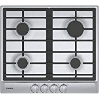 Bosch NGM5455UC 24 500 Series Gas Cooktop with 4 Sealed Burners Centralized Push-to-Turn Knobs Automatic Electronic Re-Ignition and Low-Profile Design in Stainless