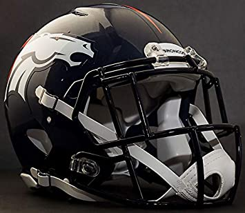 NAVY BLUE DENVER BRONCOS Riddell Speed S2EG-II-SP Football Helmet Facemask