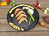 Korean BBQ Egg Grill Pan for Induction, Nonstick