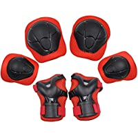 YOMYM Kids Knee Elbow Wrist Protective Guard Pads, BMX Inline Skating Scooter Rollerblade Cycling Skateboard Protective…