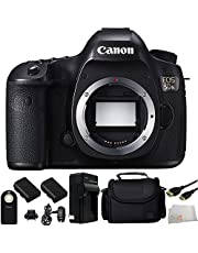 Canon EOS 5DS Digital SLR (Body Only) + 9PC Essentials Accessory Kit - International Version (No Warranty)