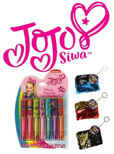 Ropeastar JoJo Siwa Personal Care Gift Set, Perfect Christmas and Birthday Gifts for Girls (7-Pack Flavored Lip Gloss)