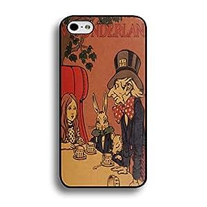 Cartoon Comics Disney Movie Alice In Wonderland Rabbit Picture Iphone 6/6S Case,Alice In Wonderland Rabbit Phone Case For Iphone 6/6S,Black Hard Plastic Case Cover