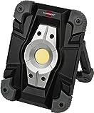 Brennenstuhl Akku LED Arbeitsstrahler / LED Strahler Akku (Außenleuchte 10 Watt, Baustrahler IP54, Fluter Tageslicht) schwarz/grau