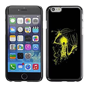LECELL -- Funda protectora / Cubierta / Piel For Apple iPhone 6 Plus 5.5 -- Yellow Scissor Hand --