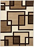 Cheap Well Woven Ruby Imagination Squares Cream Modern Area Rug 9'2″ X 12'6″