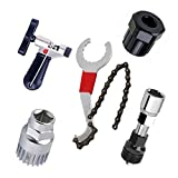 SODIAL Mountain Bike Repair Tool Kits Bicycle Chain Cutter/Chain Removel/Bracket Remover/Freewheel Remover/Crank Puller Remover
