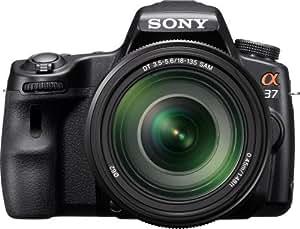 Sony Alpha SLT-A37M 16.1 MP Exmor APS HD CMOS Sensor DSLR with Translucent Mirror Technology and 18-135mm Lens (Black)
