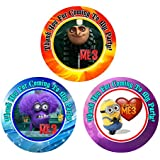 12 DESPICABLE ME 3 Birthday Party Favor Stickers (Bags Not Included) #1
