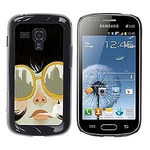 """Samsung Galaxy S Duos S7562 , JackGot - Impreso colorido protector duro espalda Funda piel de Shell (Fumar Ciudad gafas de sol de moda"""")"""