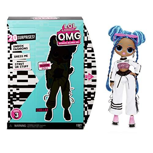 LOL Surprise Muñecas de Moda Coleccionables para Niñas , Con 20 Sorpresas y Accesorios , Chillax , OMG Serie 3
