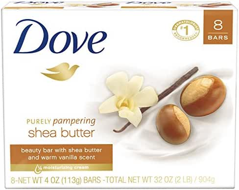 Dove Purely Pampering Beauty Bar Shea Butter 4 oz, 8 Bar