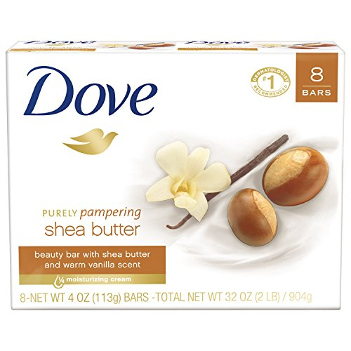 Dove Purely Pampering Beauty Bar, Shea Butter 4 oz, 8 Bar