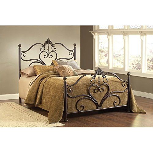 Hillsdale Newton King Poster Bed in Antique Brown