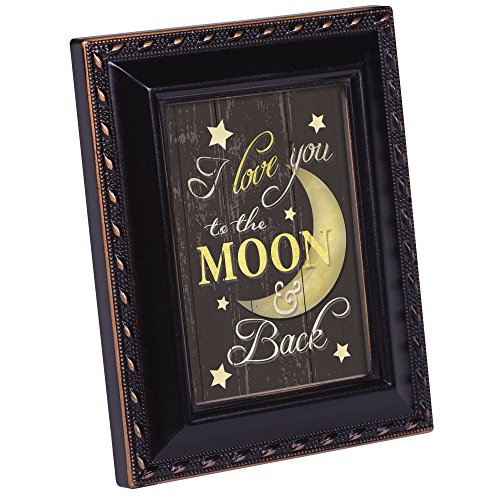 Cottage Garden Love You To The Moon And Back Black Gold Rope 2 x 3 Magnetic Tiny Photo Frame -