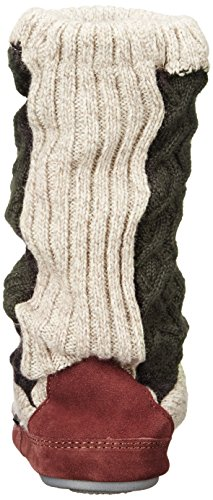 Acorn Dames Slouch Boots Charcoal Cable Knit