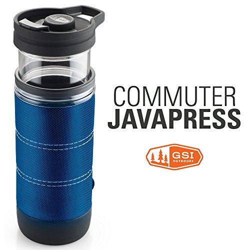 GSI Outdoors- Commuter JavaPress, Superior Backcountry Cookware Since 1985, Blue